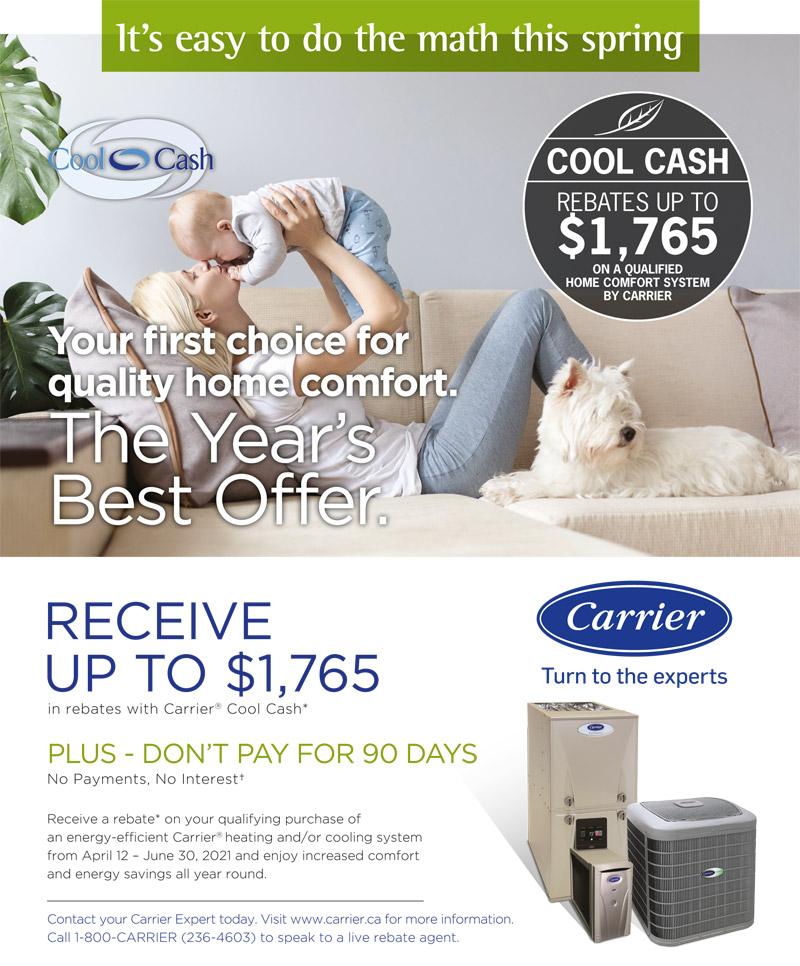 Carrier Cool Cash Promotion 1
